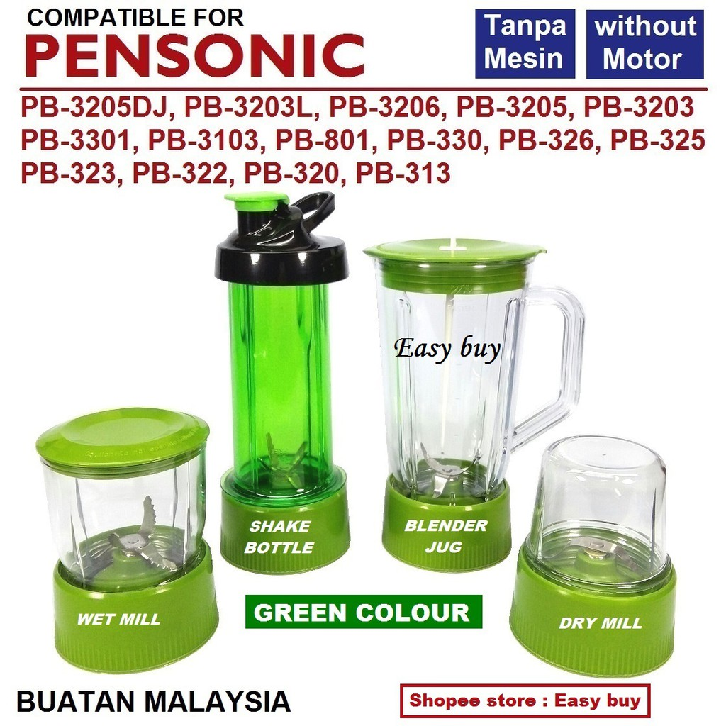 BLENDER JUG / WET MILL / DRY MILL / SHAKE BOTTLE (compatible) for PENSONIC  without Motor