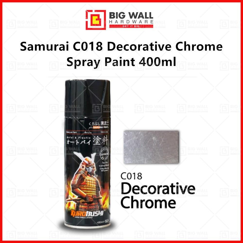 Samurai C018 Decorative Chrome Spray Paint 400ml Big Wall Hardware