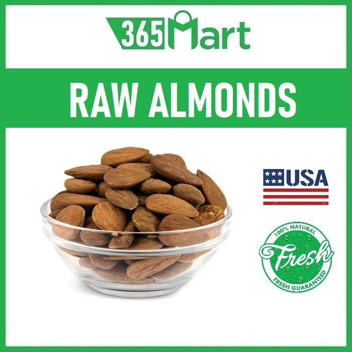 Raw Almond Nuts (250g/500g/1kg) USA Premium Quality Kacang Badam by 365mart 365 Mart