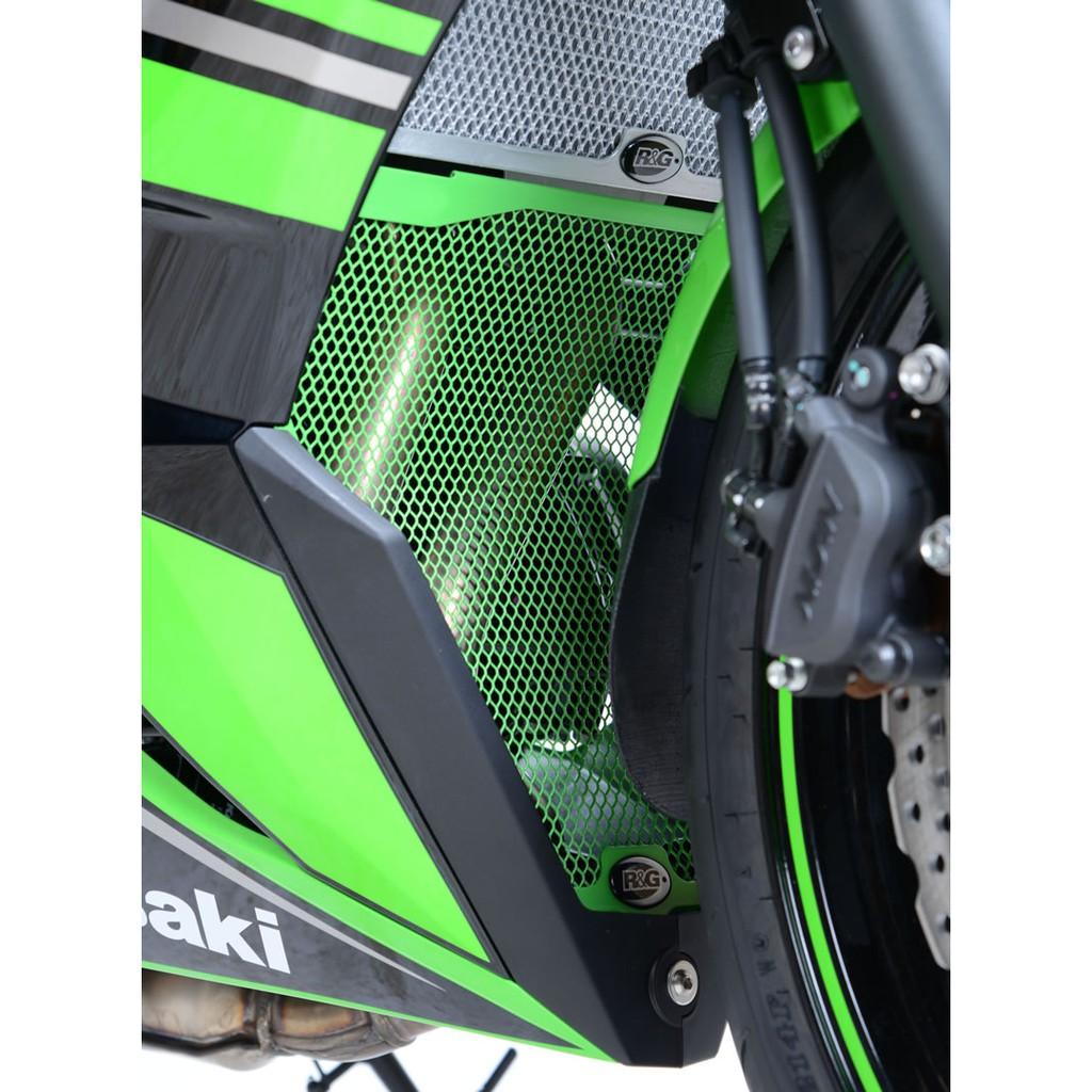 R/&G GREEN Downpipe Grill for Kawasaki ZX6R Ninja 2019