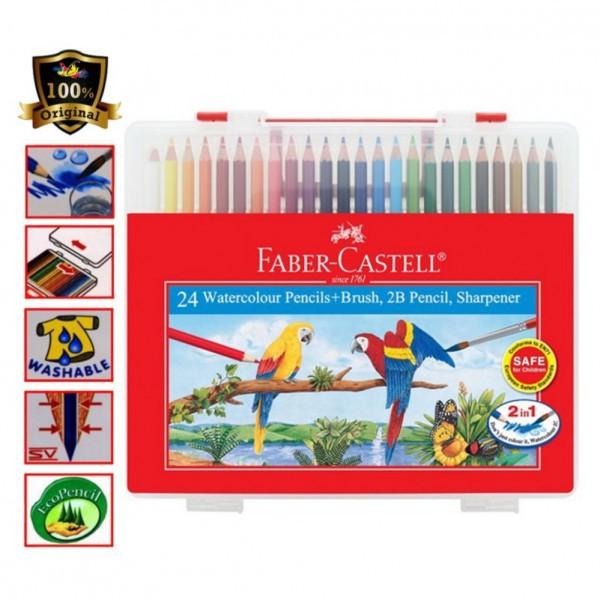 Faber-Castell Watercolour Pencils Wonder Box 24 Colour -114564