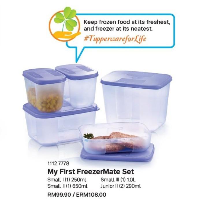 Tupperware My First Freezermate Set (5PCS)