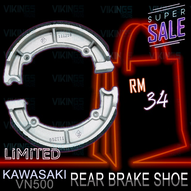 KAWASAKI VN500 REAR BRAKE SHOE BRAKE MADE IN TAIWAN BRAKE PAD
