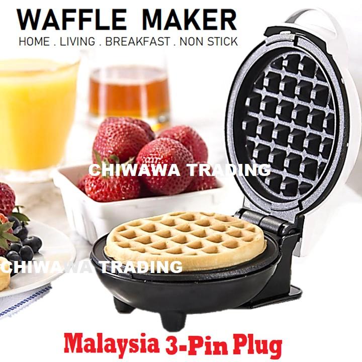 Electric Sandwich Waffle Maker DIY Cake Baking Breakfast Mac...