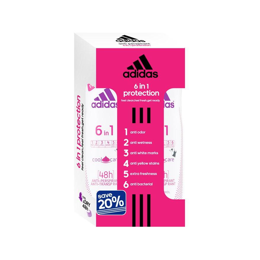 ofertas exclusivas moda más deseable bajo precio ADIDAS AntiPerspirant 6 In 1 Deodorant Spray 2 x 150ml   Shopee ...