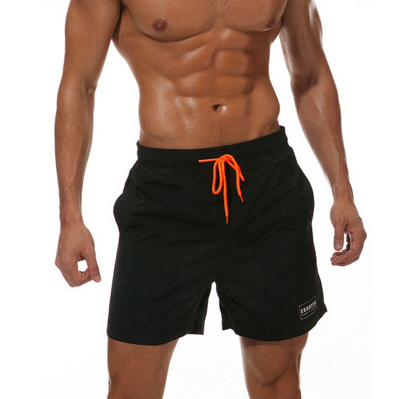 Muscle Men Swimwear Beach Shorts Gym Swimsuit Running Sports Pants Plain Summer