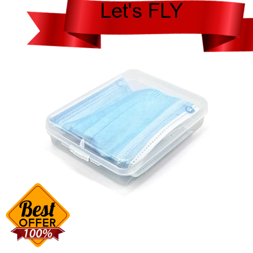 Great Discount Portable Mask Storage Box Dust-proof Moisture-proof Cleaning Box Mask Case Transparent Plastic Organizer