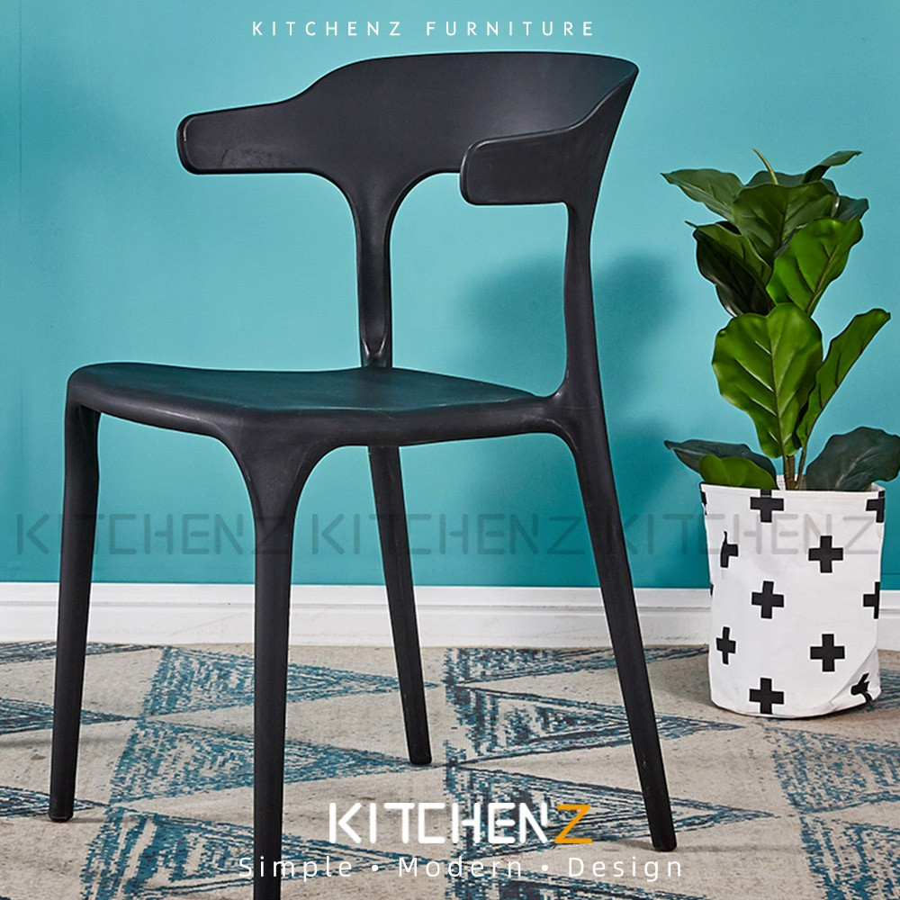 [Larger Size] Kitchen Z Designer Chair /Dining Chair with Comfort Arm Rest & Back Rest - HMZ-DC-A363