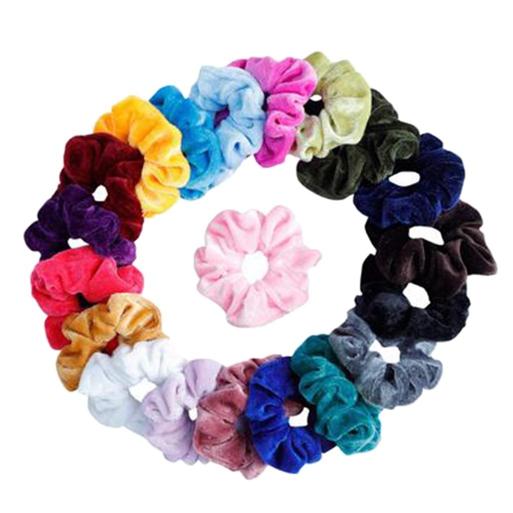 10Pc Hair Scrunchies Shiny Metallic Hair Bands Scrunchy Hair Ties Ropes Hairband