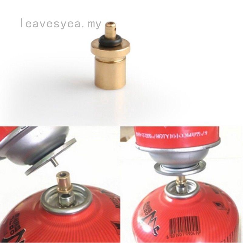 Cylinder Filling Butane Canister Gas Refill Adapter Copper~Outdoor Camping·S JB