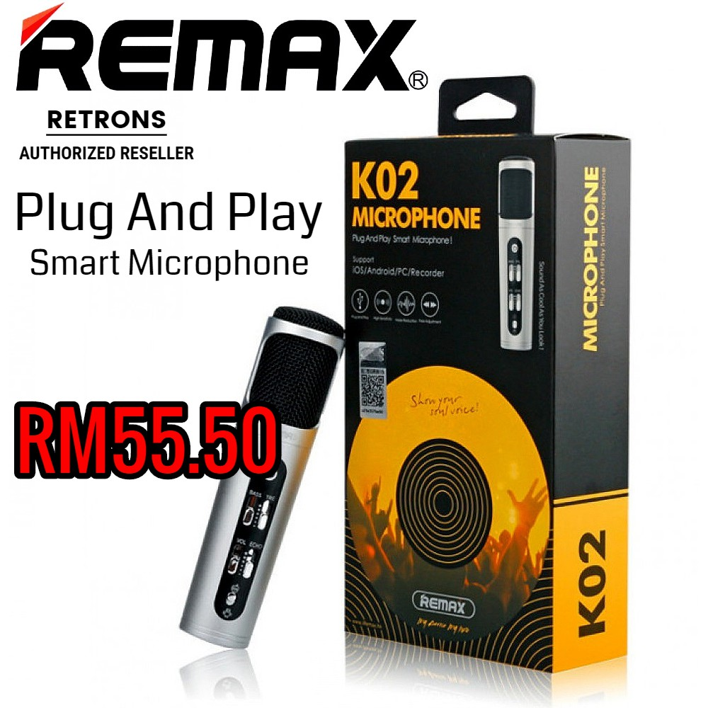 Sealed Original Remax K02 Mini Smart Microphone Pink Silver Gold Support Android iOS PC [CLEARANCE]