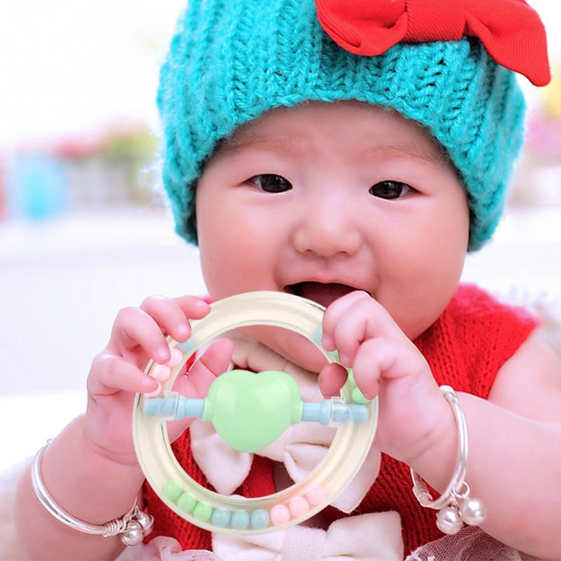 e72c9377b Baby Hand Shake Bell Ring Rattle Teether Children Kids Early Music ...