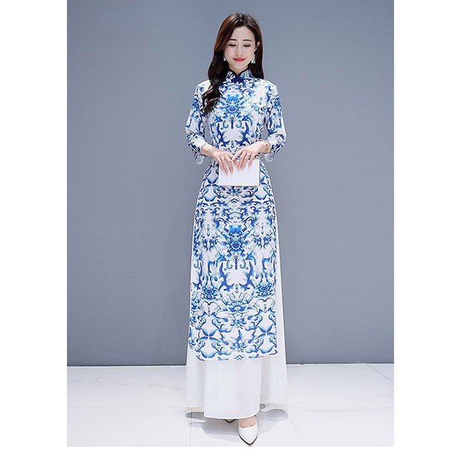 [Plus Size] Premium Quality Vintage Chinese Cheongsam Dress/Gown/Evening Dress/Dinner/Maxi Dress 长款中式旗袍/连衣裙礼服