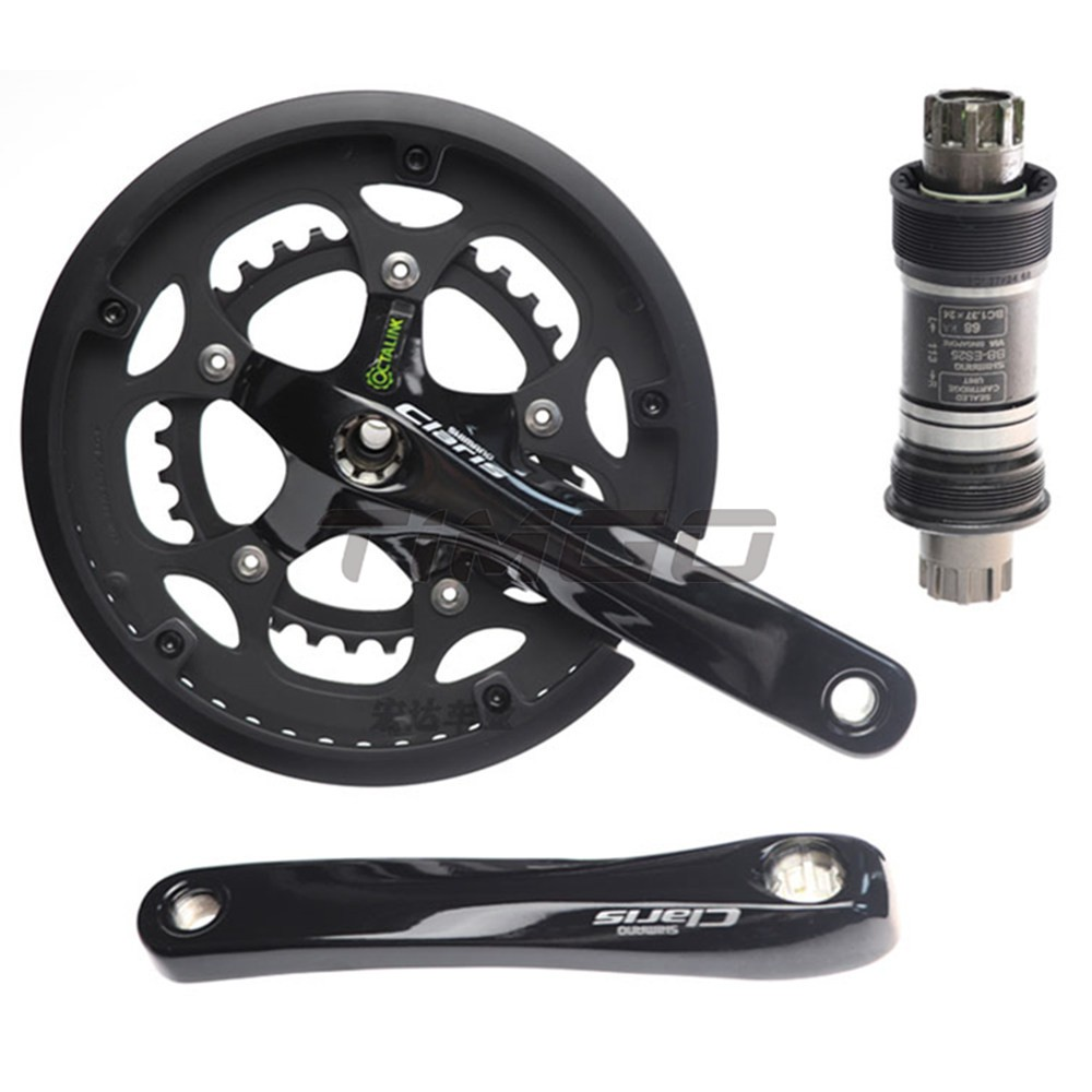 SHIMANO FC-2450 50//34T Double 8-Speed Claris Crankset