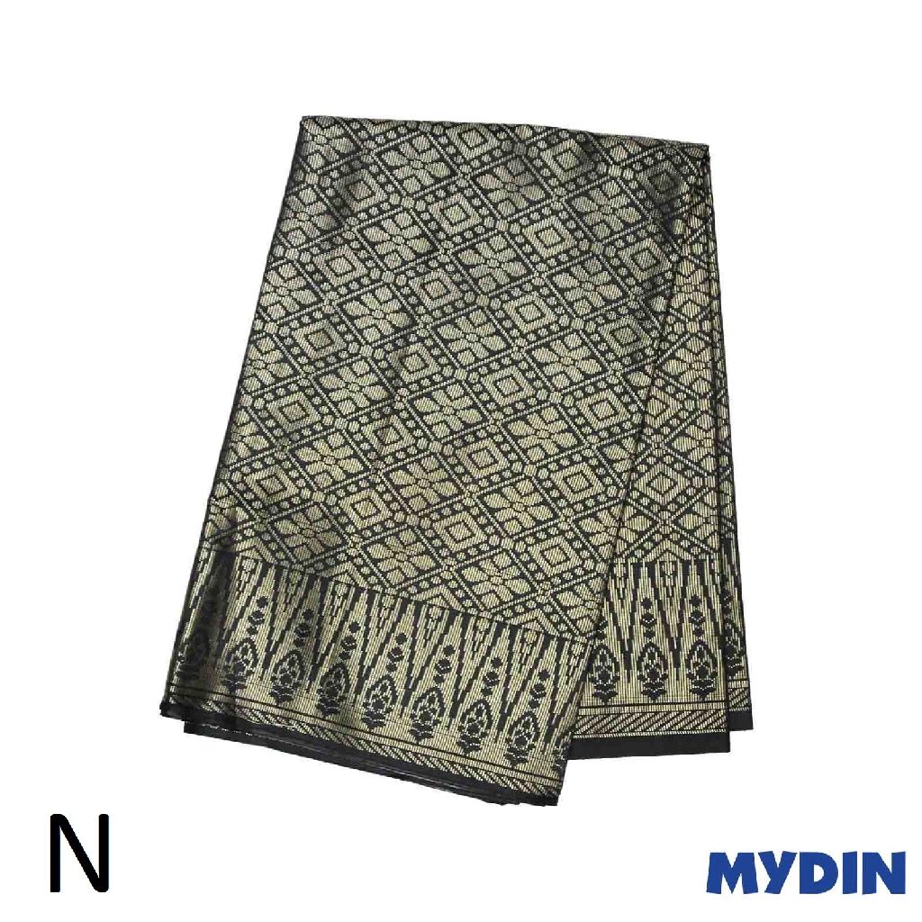 "Men Sampin N Raya - Gold on Black with Designs (2m x 32"") 0819SRLXBP01"