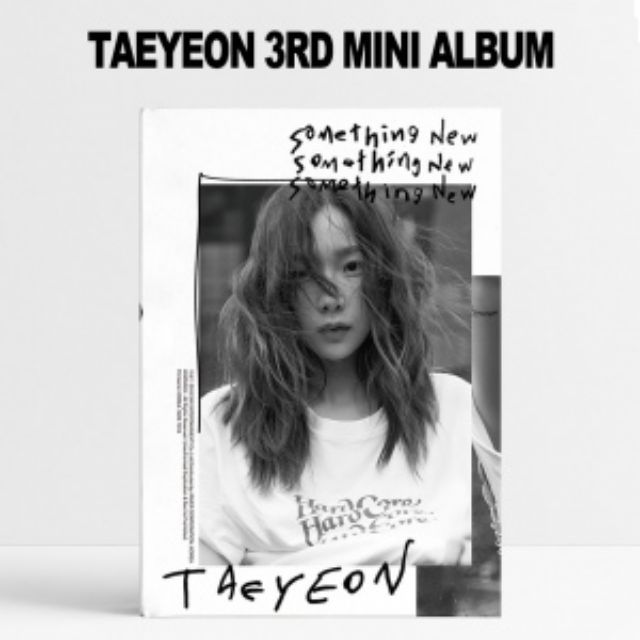 TAEYEON 3RD MINI ALBUM - SOMETHING NEW CD + POSTER