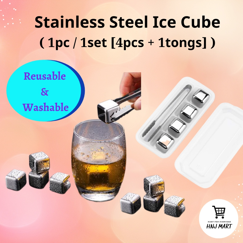 Stainless Steel Ice Cube Metal Ice Cube Ice Maker Reusable Ice Cube Food Grade 不锈钢冰块