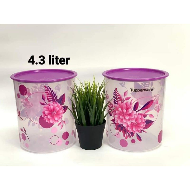 Tupperware Camellia One Touch Canister Large 4.3L