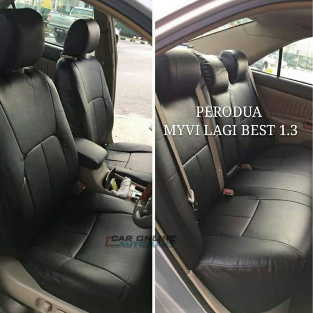 Best Car Seat Covers >> Broz Car Seat Cover Case Semi Leather Perodua Myvi 1 3 Lagi Best Front And Back