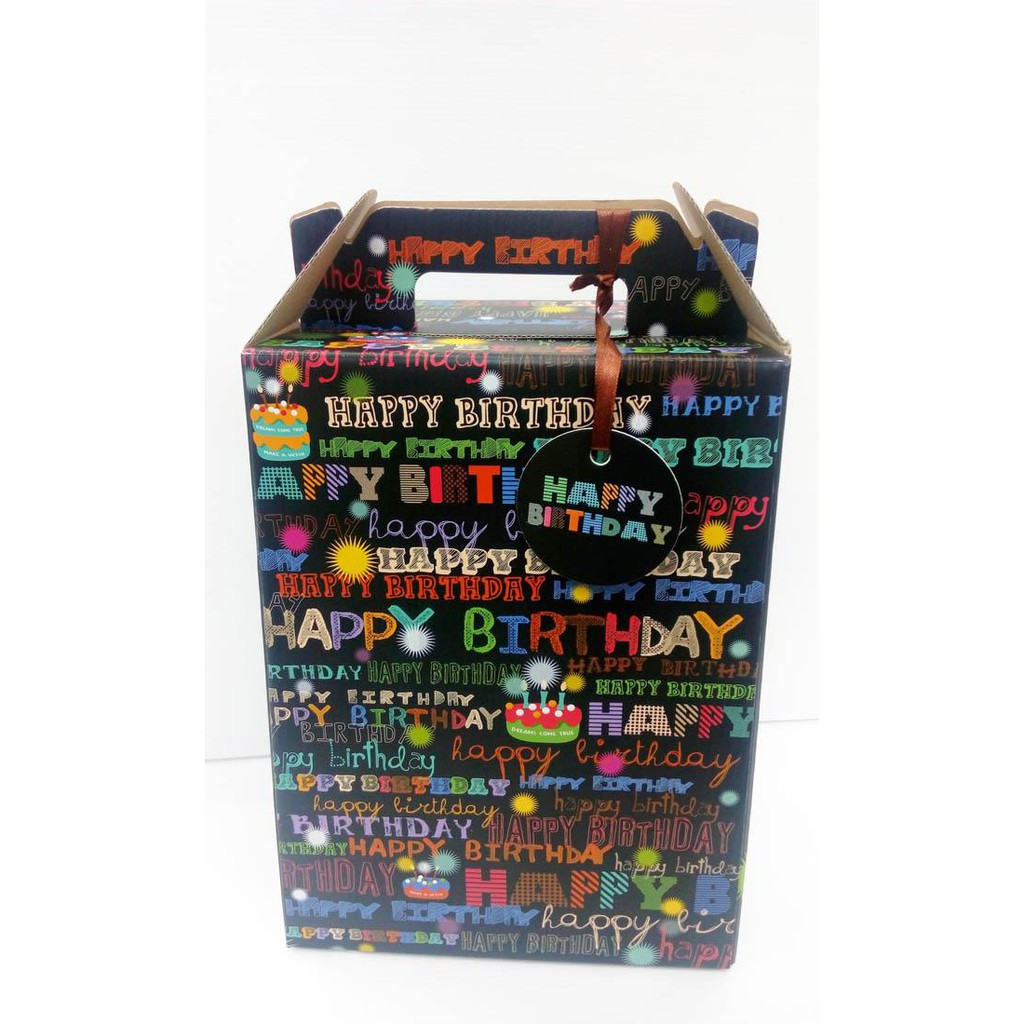 Happy Birthday Gift Box X 5 sets 28.5cm