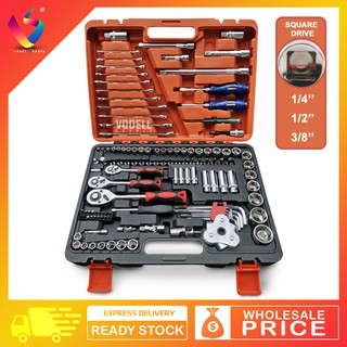 2 Pcs Multi Function Mechanics Socket Wrench Car Hand Tools Repair Kit 53*25 mm
