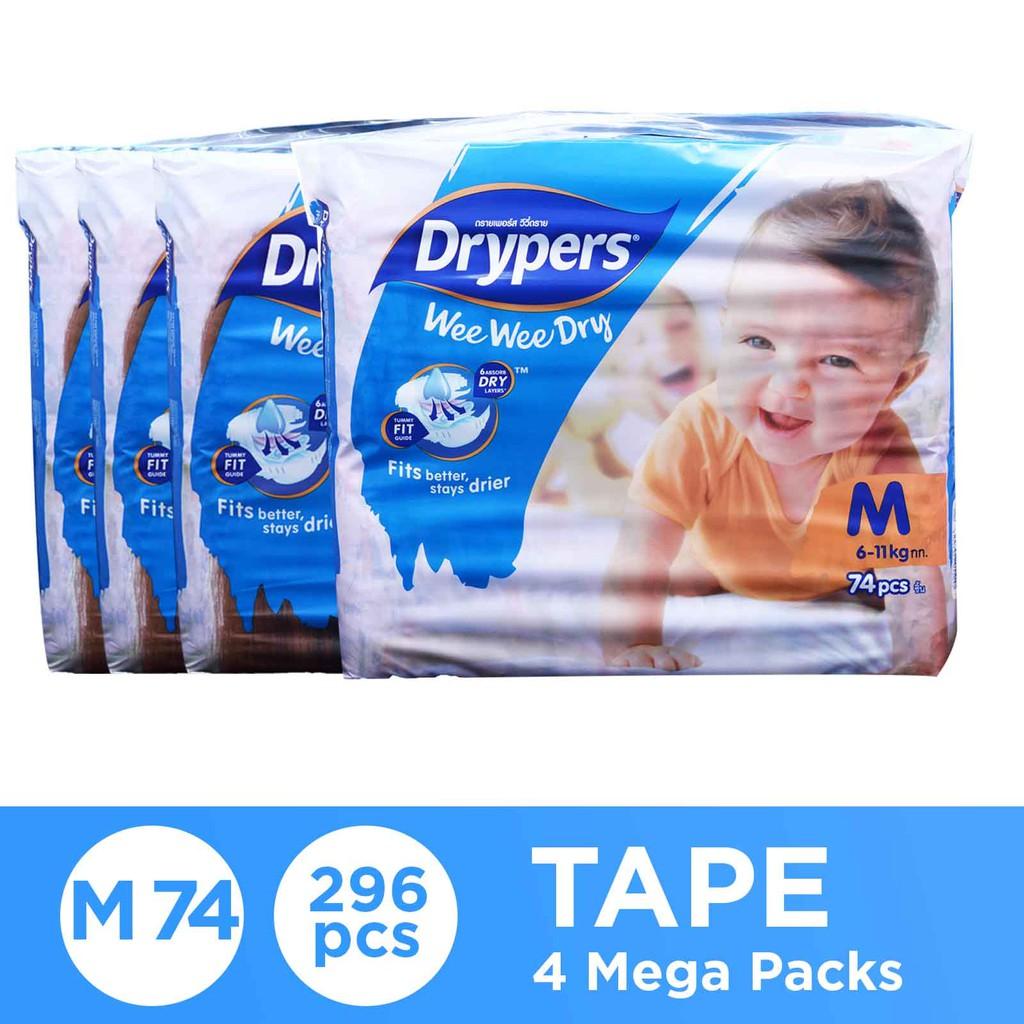Drypers Wee Wee Dry M148 x 2 TP (296s total)
