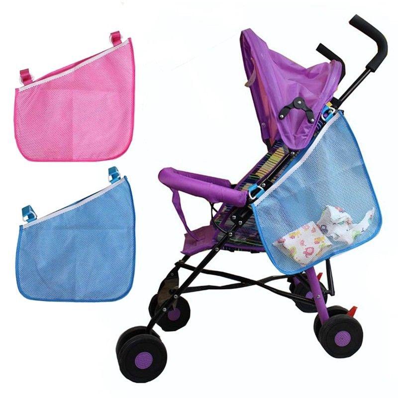 Infant Baby Stroller Storage Mesh Bag Hanging Organizer Diaper Pram Storage Net