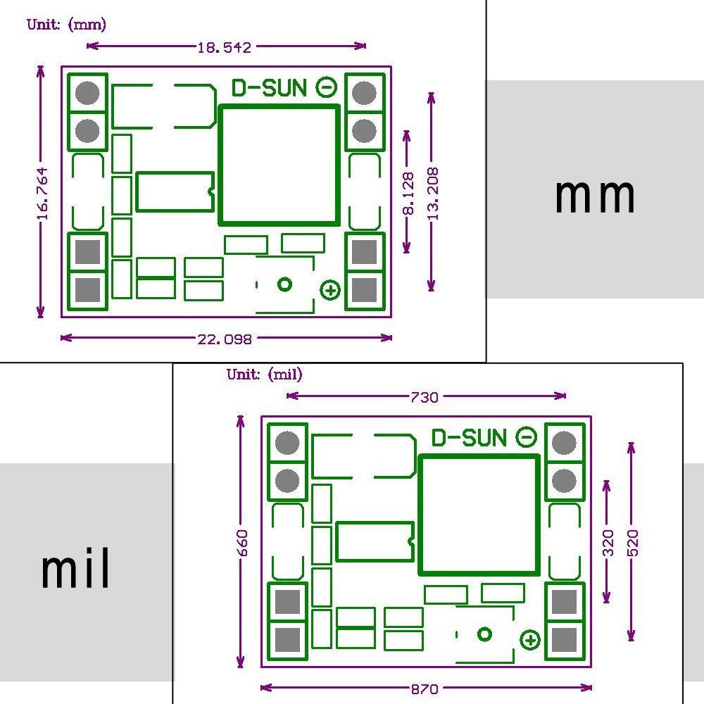 Mini DC 6.5~28V to DC 5V MP1584 3A DC-DC Step-down BUCK Module PCB U