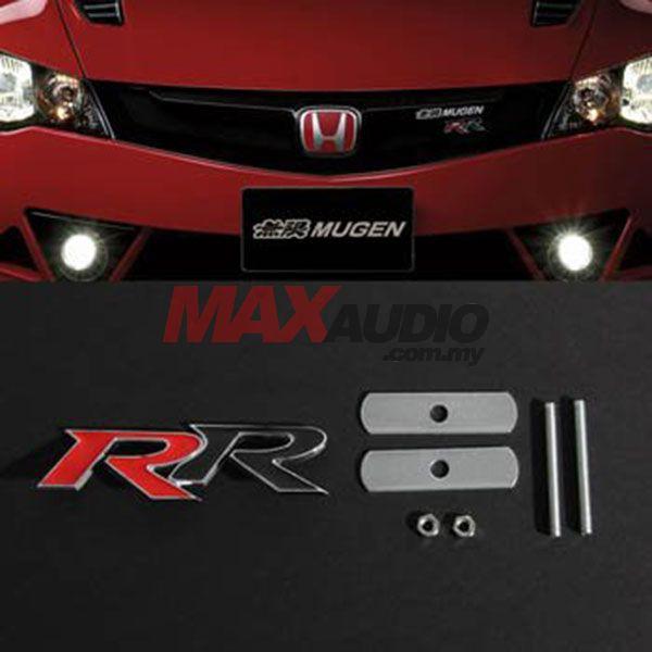 [FREE Gift] HONDA CIVIC CITY JAZZ Red Black Mugen RR Front Grill JDM Style Logo Emblem Badge