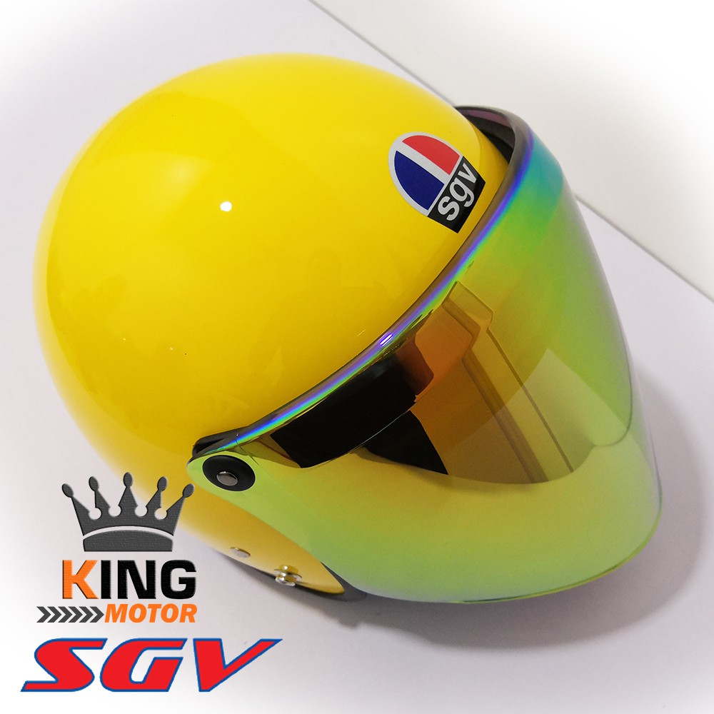 SGV TRENDY YELLOW HELMET WITH REBORN GOLD VISOR