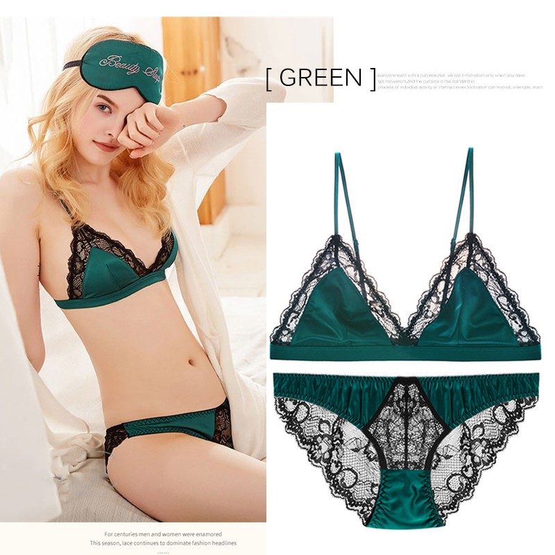 Womens Lace Bra Unpadded Embroidered See-through Brassiere Lingerie ABCD 32-44