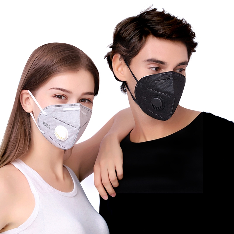 3d Fog Filters Anti Carbon Valved Ply 2pcs Nonwoven Breathable Mask Mask Activated Dust