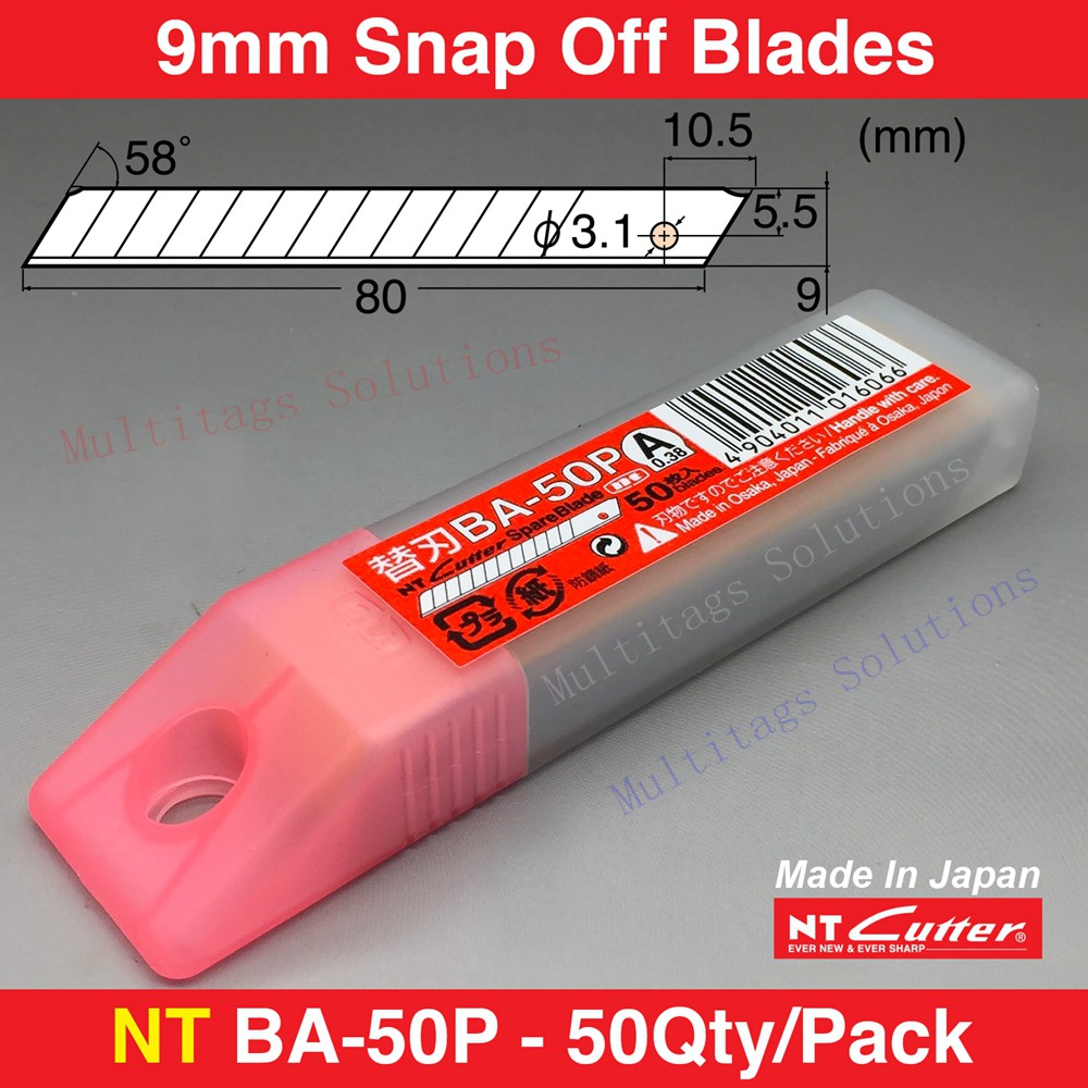 NT CUTTER Spare Blade BA-50P (50pcs / PACK) MADE IN JAPAN