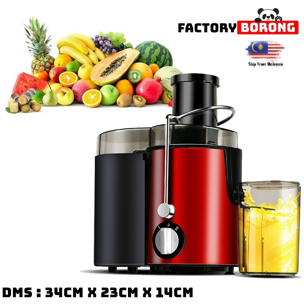 (Malaysia Plug) Stainless Steel Juicer Machine Fruit Vegetable Juicer Extractor Juice Maker Juice Machine Juice