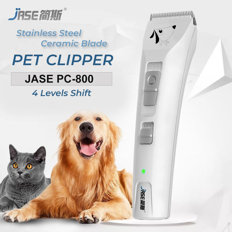 JASE PC-800 Pet Clippers Hair Shaver Grooming Trimmer Rechargeable Cat Dog Clipper Cordless Pet Shaver