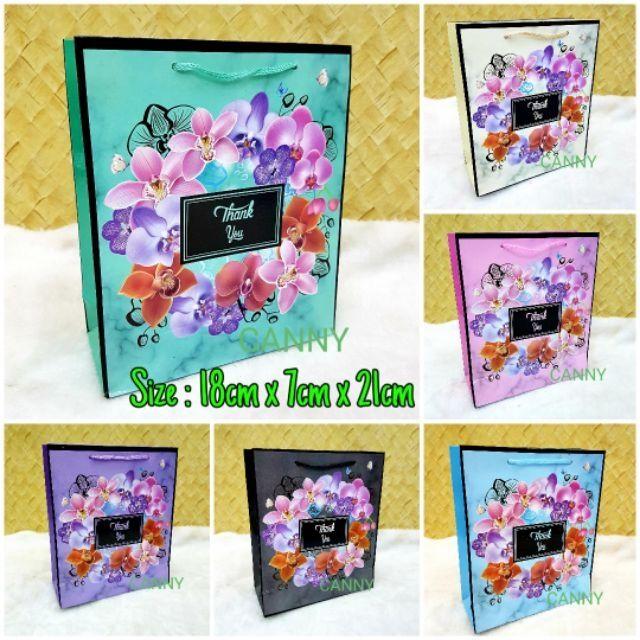 🎁🎀 10pcs Beg Doorgift Orkid Size L / Paper Bag Doorgift Size L 10pcs 🎁🎀