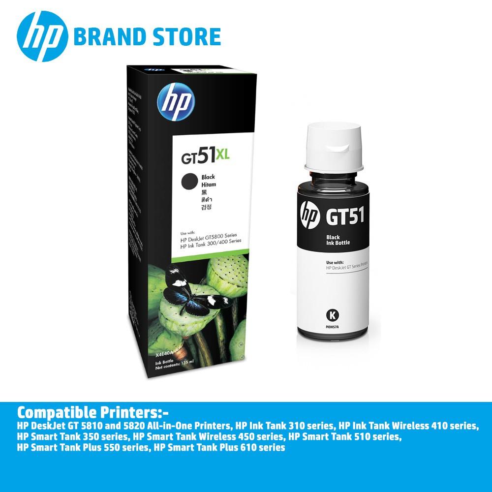 HP GT51XL 135-ml Black Original Ink Bottle X4E40AA For HP DeskJet GT 5810/  5820/ 310/ 410/ 350/ 450/ 510/ 550/ 610