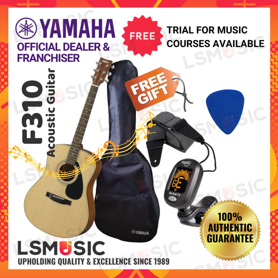 Yamaha F310 Acoustic Guitar 41 inch Full Size - Natural Yamaha Gitar Akustik Beginner Complete Package With Accessories