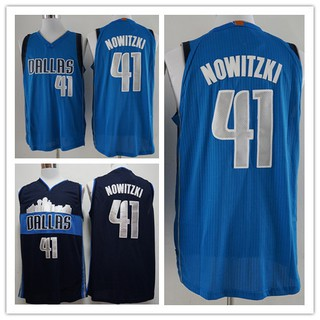 new style e6e4d 97413 New Mavericks No. 41 Nowitzki Retro City Blue Mesh ...