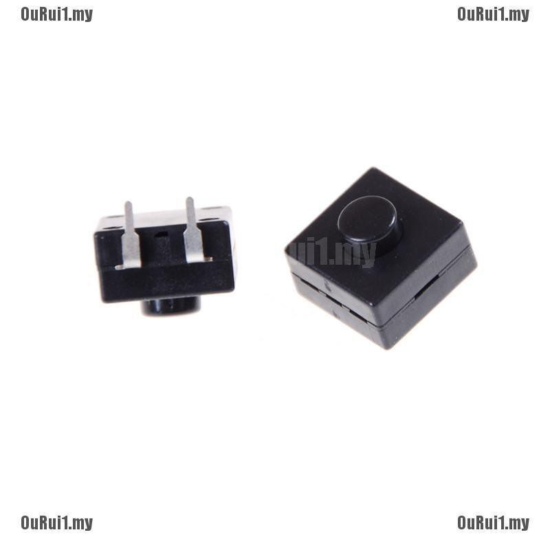 10x Set 12x12x9mm Latching Tactile Push Button Switch Tact SMD PCB 2-pin DIP*~*