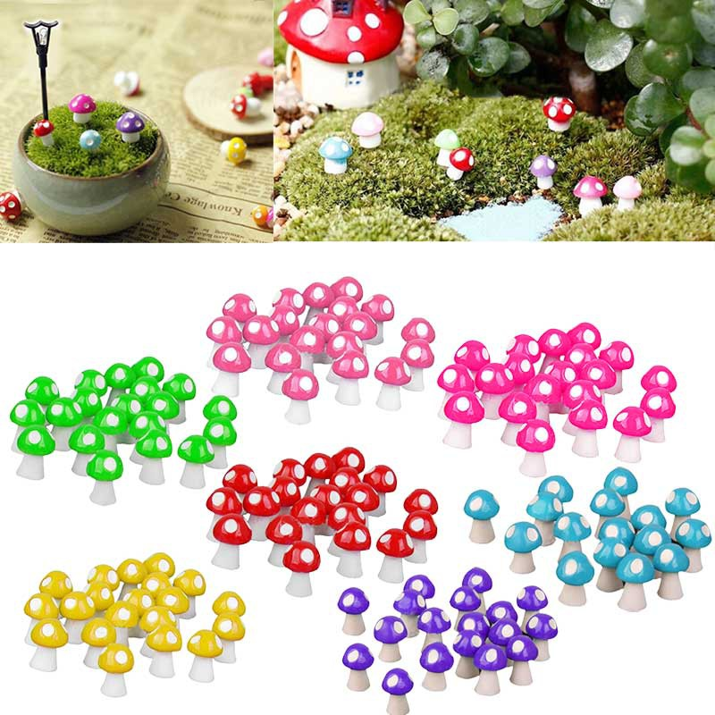 10Pcs Miniature Decorations Coccinella Septempunctata Resin Crafts Transser Red DIY Art Crafts House Fairy Garden Micro Landscape Home Decoration