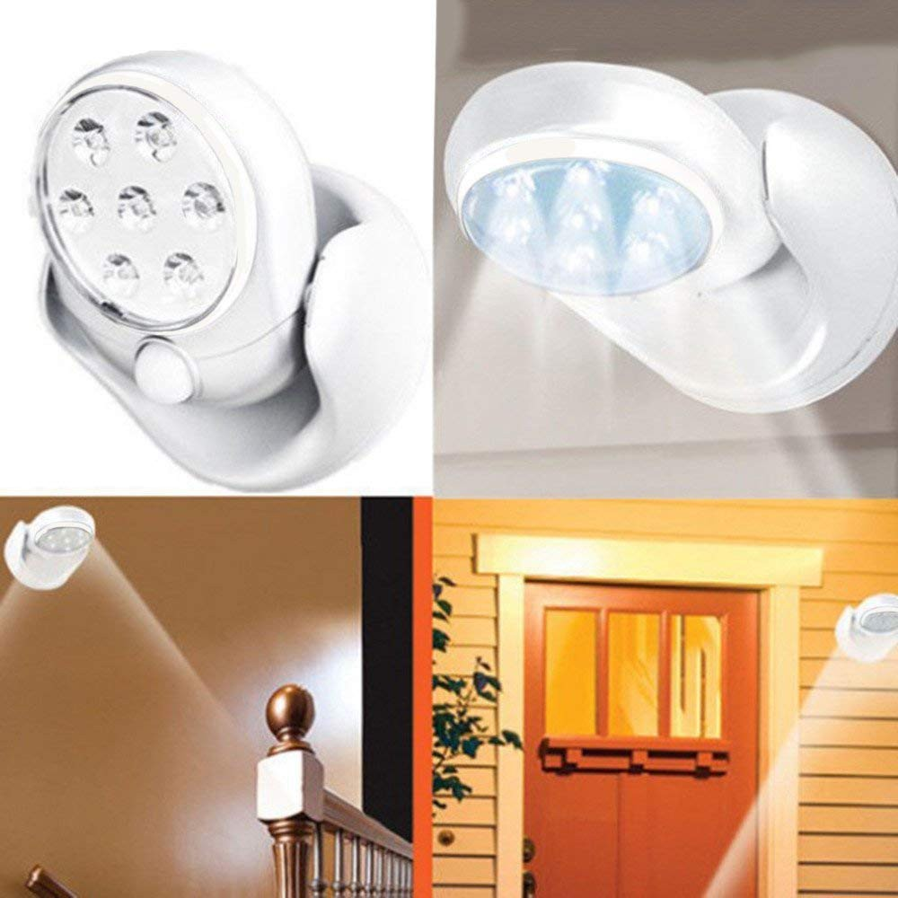 Led Night Lights Bright 360degree Rotating Led Sensor Lamp Motion Activated Light Infrared Induction Lamp Wall Mounted Night Light For Outdoor Garden Yet Not Vulgar Led Lamps