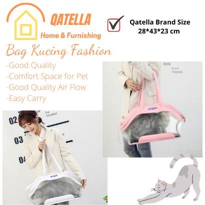 Qatella Cat or dog Pet bag carrier black foldable/Cat Bag/Dog Bag/Pet Carrier/Cat Carrier/Dog Carrier/Foldable Pet Bag