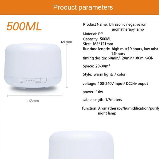[ READY STOCK ]  Classic 500ML Aroma Diffuser Humidifier Aromatherapy Essential Oil Time Setting Jualan Murah Perfume Led