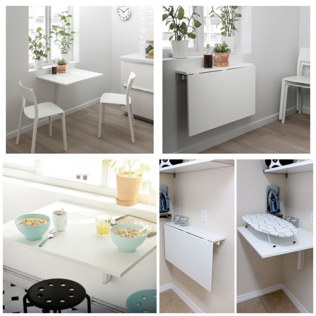 Ikea Norberg Modern Foldable Wall Table Meja Lipat Dinding Moden Ikea Serbaguna Shopee Malaysia