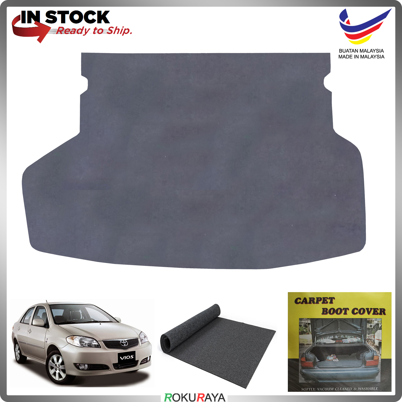 Toyota Vios XP40 (1st Gen) 2003-2007 Malaysia Custom Fit Carpet Rear Trunk Boot Cargo Cover