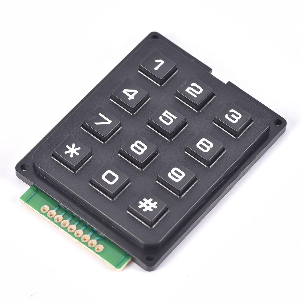 10pcs Nouveau 3 x 4 12 Key Matrix Membrane Switch Keypad Clavier