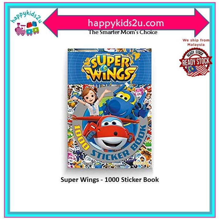 [Ready Stock] Super Wings - 1000 Sticker Book