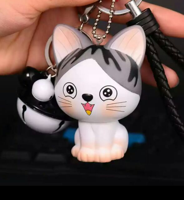 Cute Cat Keychain Grey White Chi's Sweet Home Key Chain
