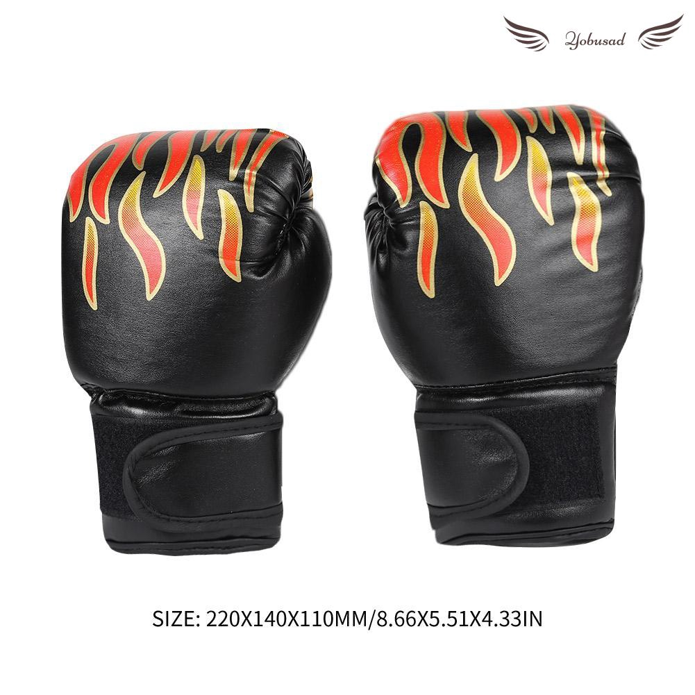 2pcs Boxing Training Fighting Gloves Leather Kid Sparring Kickboxing Gloves F07#